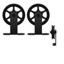 GPF0503.61 Schiebetürhänger Set Suuri schwarz  i.A. zusätzliche Tür