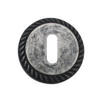 Schlüsselrosette 1351/B 51x10mm Chrom Antik