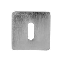 Schlüsselrosette 6031/B 50x50x6mm Satin Chrom