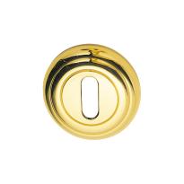 Schlüsselrosette 651/B 51x12mm Messing unlackiert