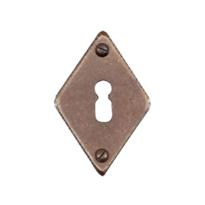 Schlüsselrosette FB716 rombo 45x70mm Rost