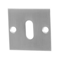 Schlüsselrosette GPF0901.08 50x50x2mm Edelstahl gebürstet