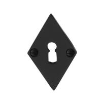 Schlüsselrosette GPF6901.07 83x52x4mm Schmiedeeisen schwarz