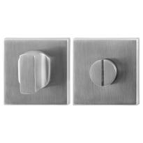 Toilettengarnituren GPF0911.02 50x50x8mm Toilettenstift 5mm Edelstahl gebürstet Großer Knopf