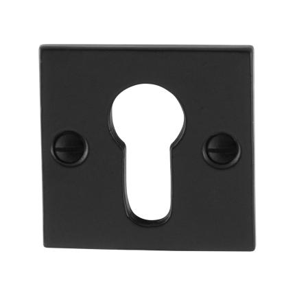 Zylinderrosette GPF6902.08 52x52x4mm Schmiedeeisen schwarz