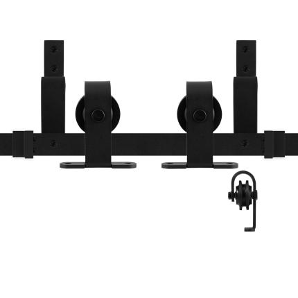 GPF0558.61 Doppel Schiebetürensystem Mutka schwarz 170 cm