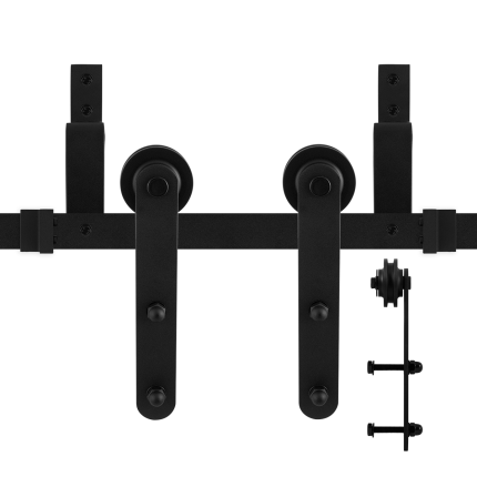 GPF0557.61 Doppel Schiebetürensystem Varsi schwarz 300 cm (2 x 150 cm)