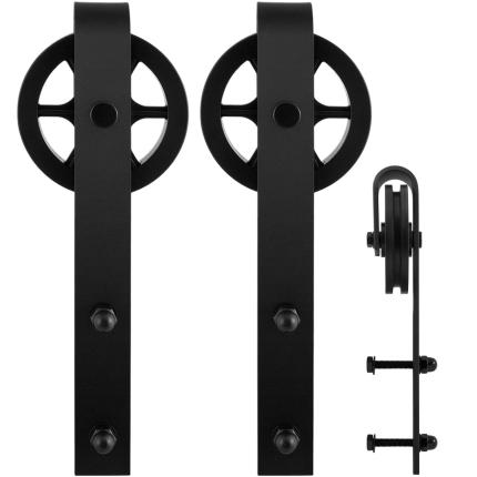 GPF0502.61 Schiebetürhänger Set Teho schwarz i.A. zusätzliche Tür
