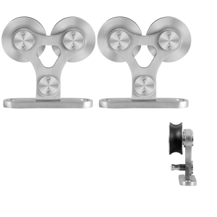 GPF0516.09 Schiebetürhänger Set Twin Edelstahl i.A. zusätzliche Tür