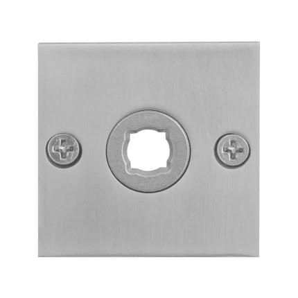 Rosette GPF1100.08 50x50x2mm Edelstahl gebürstet