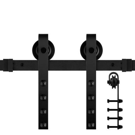 GPF0501.61 Schiebetürsystem Raskas schwarz 220cm