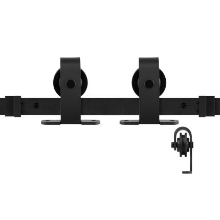 GPF0508.61 Schiebetürsystem Mutka schwarz 400 cm (2 x 200 cm Schiene)