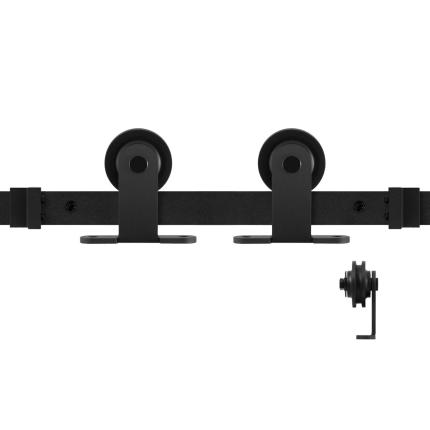 GPF0510.61 Schiebetürsystem Osa schwarz 300cm (2 x 150 cm Schiene)