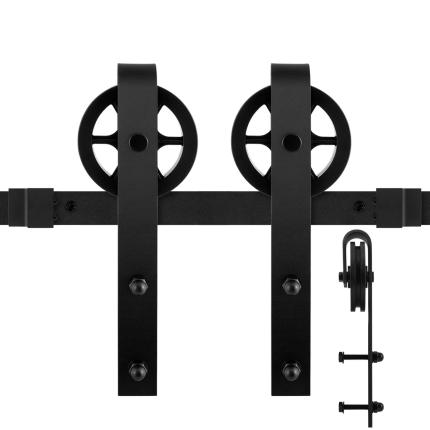 GPF0502.61 Schiebetürsystem Teho schwarz 200 cm