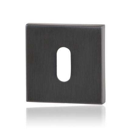 Schlüsselrosette GPF0901.02P1 50x50x8mm PVD Anthrazit