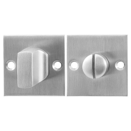 Toilettengarnituren GPF0911.08 50x50x2mm Toilettenstift 5mm Edelstahl gebürstet Großer Knopf